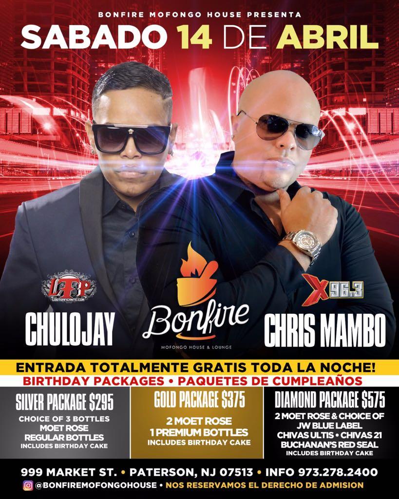 14 de Abril con DJ CHULOJ Y CRIS MAMBO X96