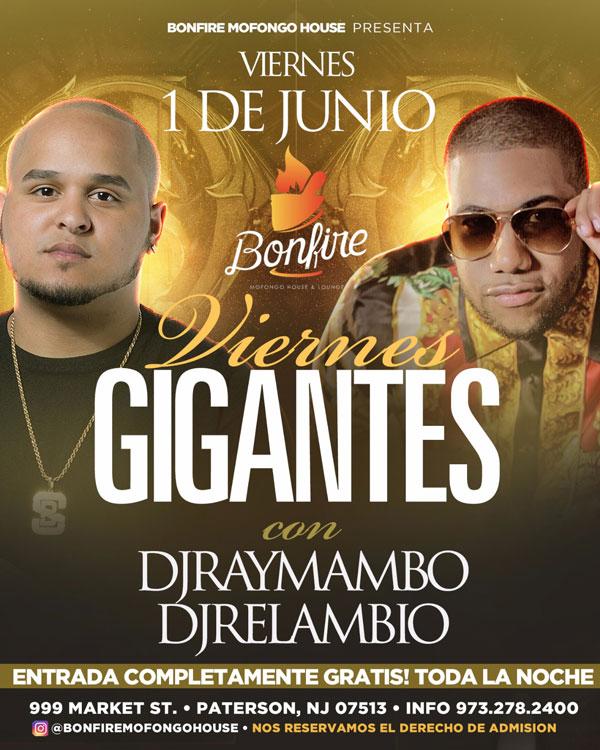 Viernes GIGANTES con DJRAYMAMBO & DJRELAMBIO