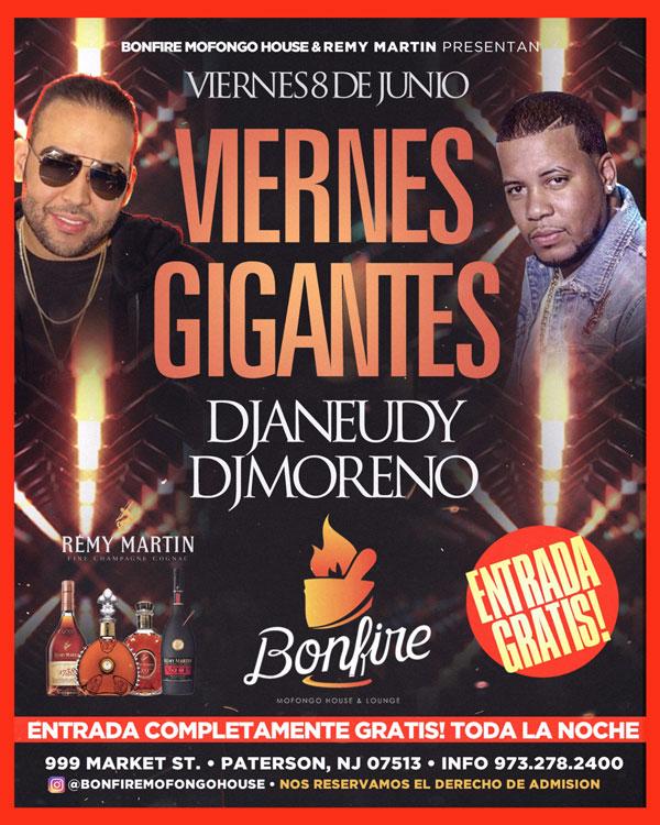 Viernes GIGANTES con DJANEUDY & DJMORENO