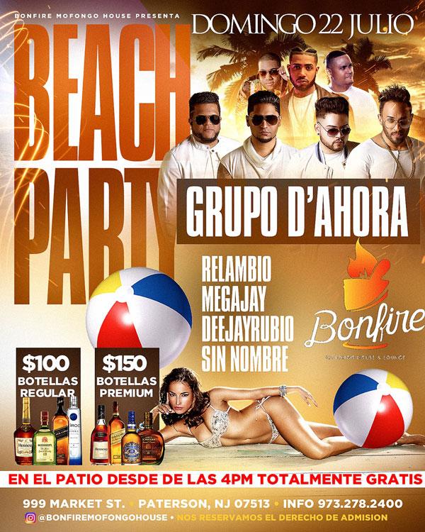 BEACH PARTY con GRUPO D'AHORA